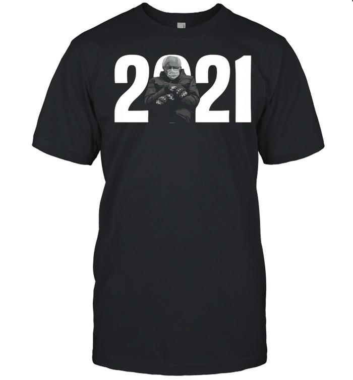 2021 Bernie Sanders Mittens Meme shirt Classic Men's T-shirt