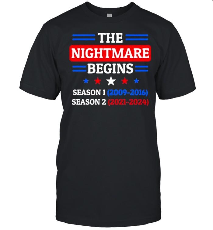 The Nightmare Begins January 20th 2021 shirt Classic Men's T-shirt