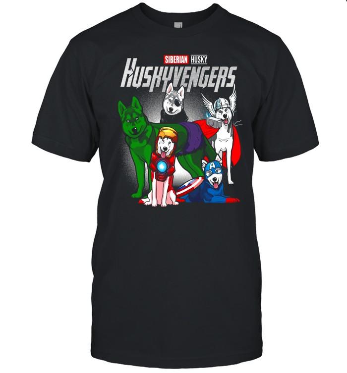 Marvel Avengers Siberian Husky Huskyvengers shirt Classic Men's T-shirt