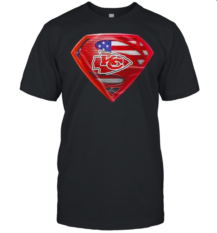 Symbol Superman American Flag Kansas City Chiefs shirt Classic Men's T-shirt