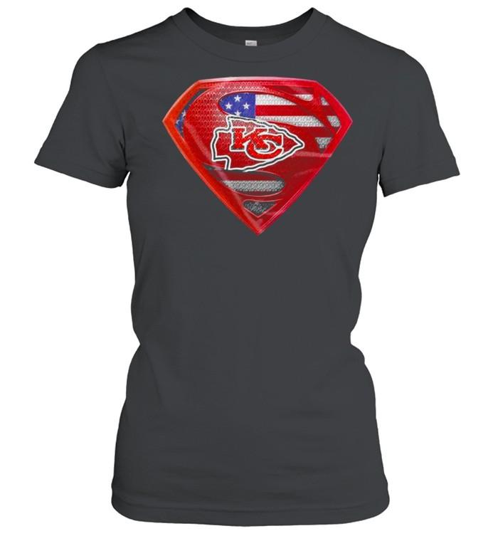 Symbol Superman American Flag Kansas City Chiefs shirt Classic Women's T-shirt