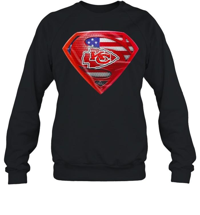 Symbol Superman American Flag Kansas City Chiefs shirt Unisex Sweatshirt