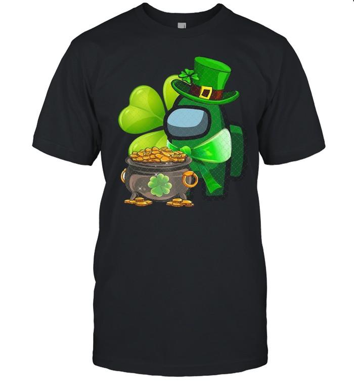 Among Us St Patrick's Day 2021 Shamrock Lucky shirt Classic Men's T-shirt