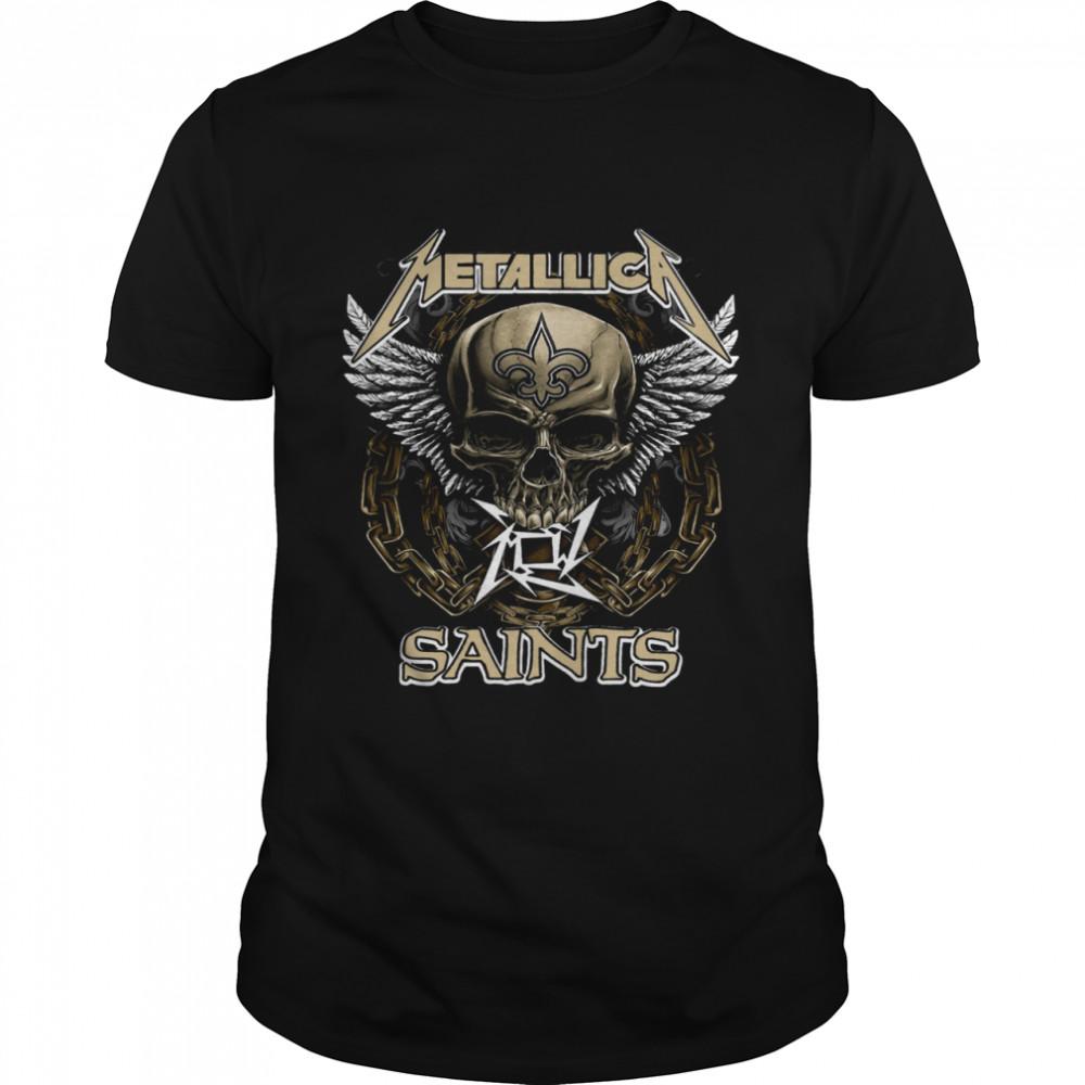 skull metallica saints shirt Classic Men's T-shirt