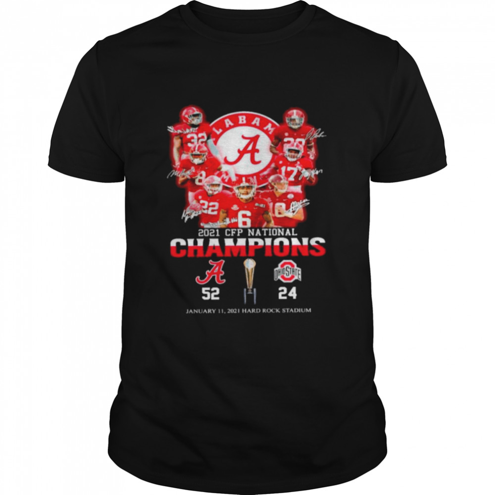 The Cfp National Champions 2021 Alabama Crimson Tide 52 24 Ohio State Buckeyes shirt Classic Men's T-shirt