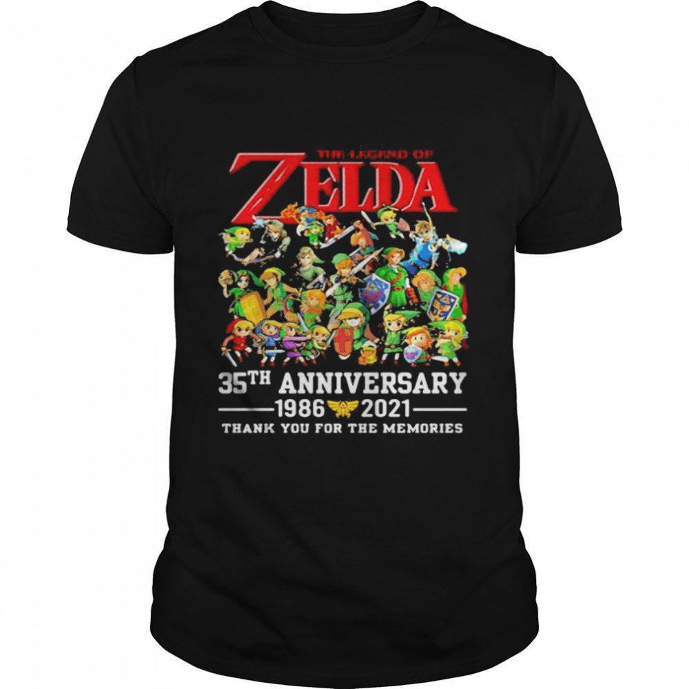 The Zelda 35th Anniversary 1986 2021 Thank You For The Memories shirt Classic Men's T-shirt