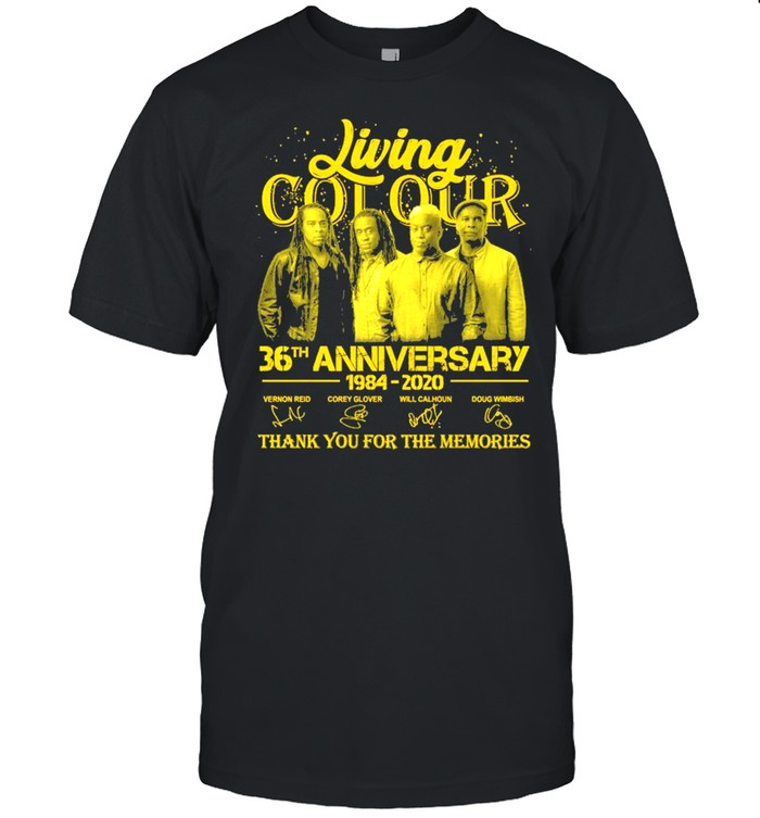 Living Cot Our 36th Anniversary 1984 2020 Signatures Thank You For The Memories  Classic Men's T-shirt