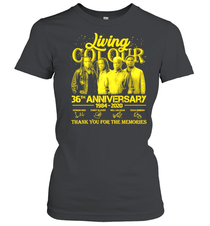 Living Cot Our 36th Anniversary 1984 2020 Signatures Thank You For The Memories  Classic Women's T-shirt