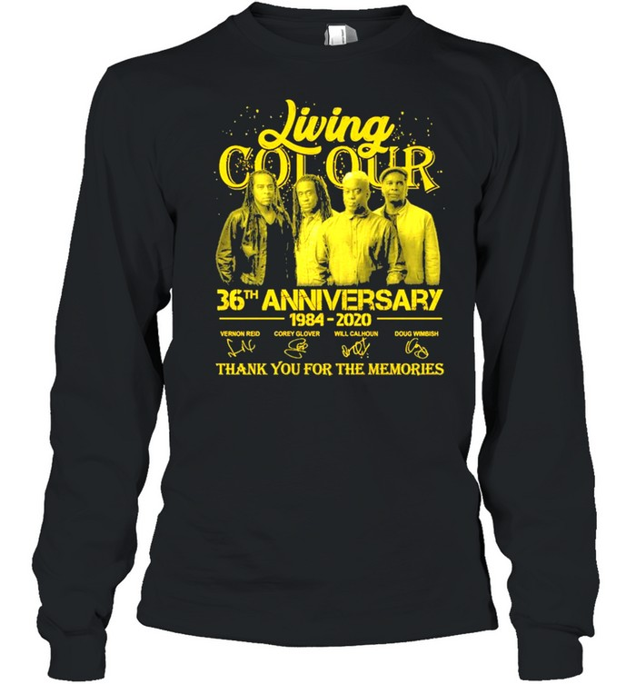 Living Cot Our 36th Anniversary 1984 2020 Signatures Thank You For The Memories  Long Sleeved T-shirt