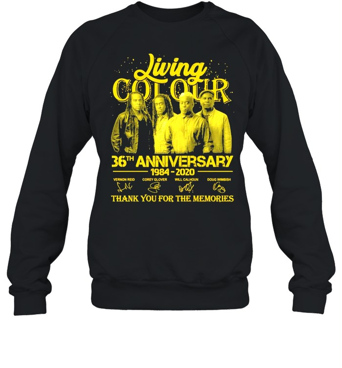 Living Cot Our 36th Anniversary 1984 2020 Signatures Thank You For The Memories  Unisex Sweatshirt