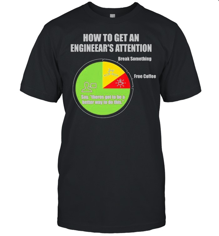 How To Get An Engineers Attention Engineering  Classic Men's T-shirt