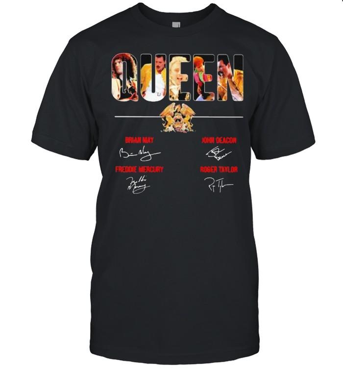 Queen Band Music Signature  Classic Men's T-shirt