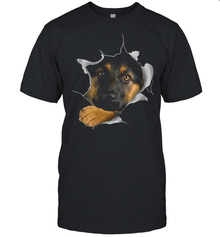German Shepherd Face Inside Dogs shirt Classic Men's T-shirt