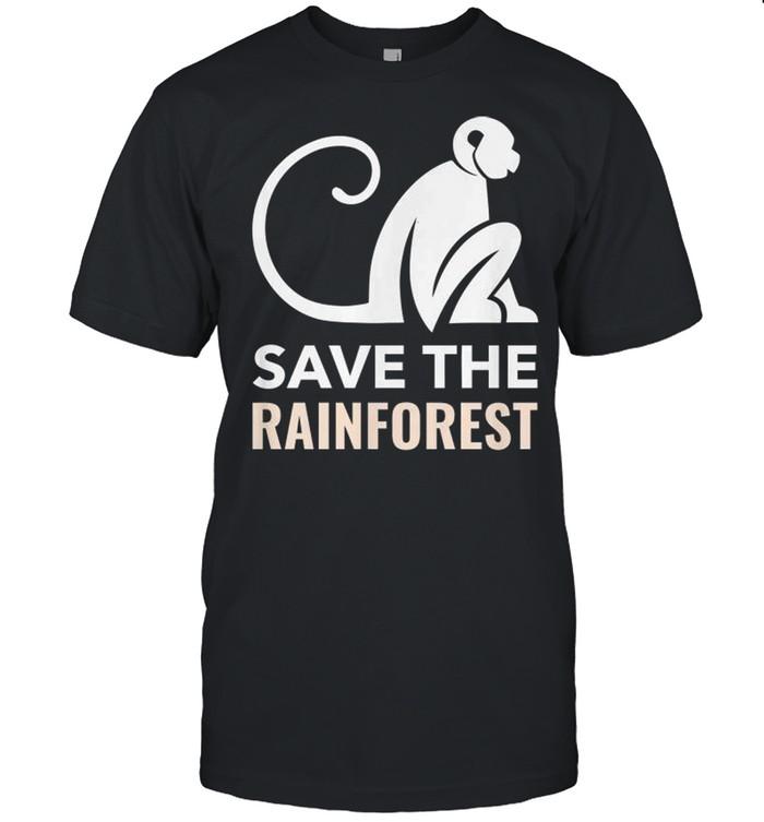 Monkey save the rainforest shirt Classic Men's T-shirt