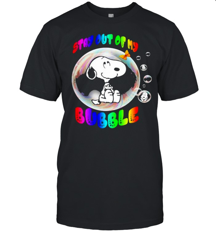 Stay Out Of My Bubble Snoopy Lgbt  Classic Men's T-shirt