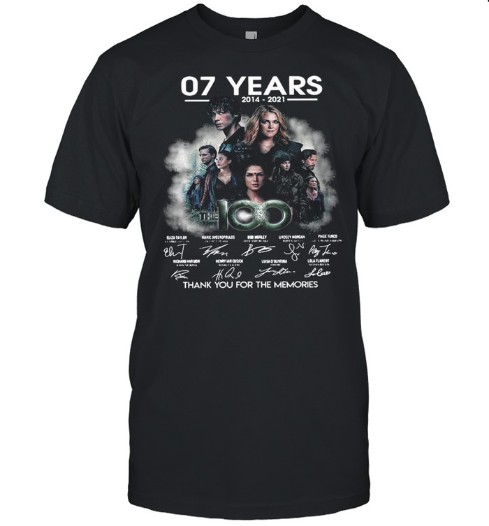 The 100 07 Years 2014 2021 Thank You For The Memories Signatures shirt Classic Men's T-shirt