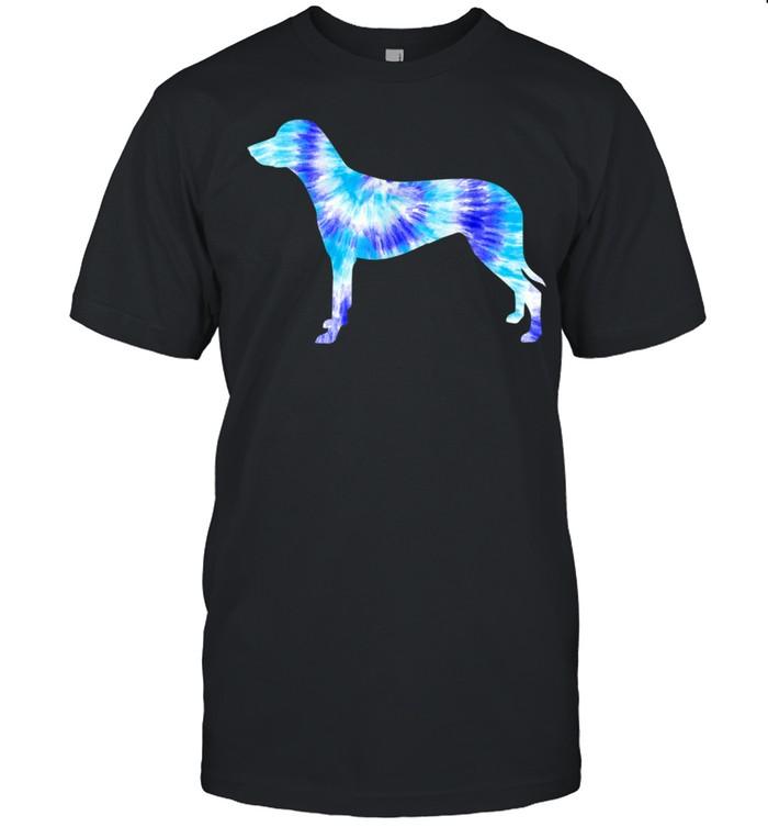 Blue Tie Dye Dalmatian Dog Lover Hippie Peace Animal shirt Classic Men's T-shirt