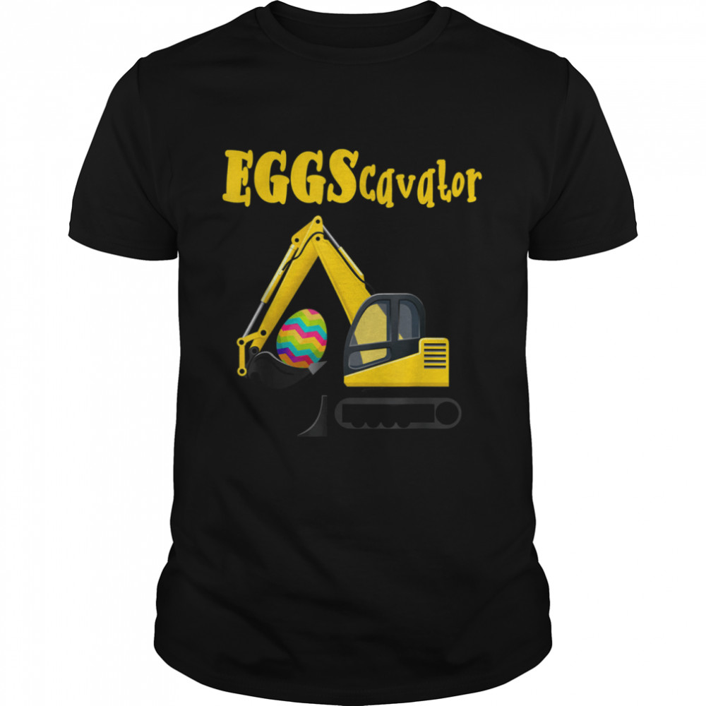 Eggscavator Excavator Digging Easter Eggs Hunting Boys shirt Classic Men's T-shirt
