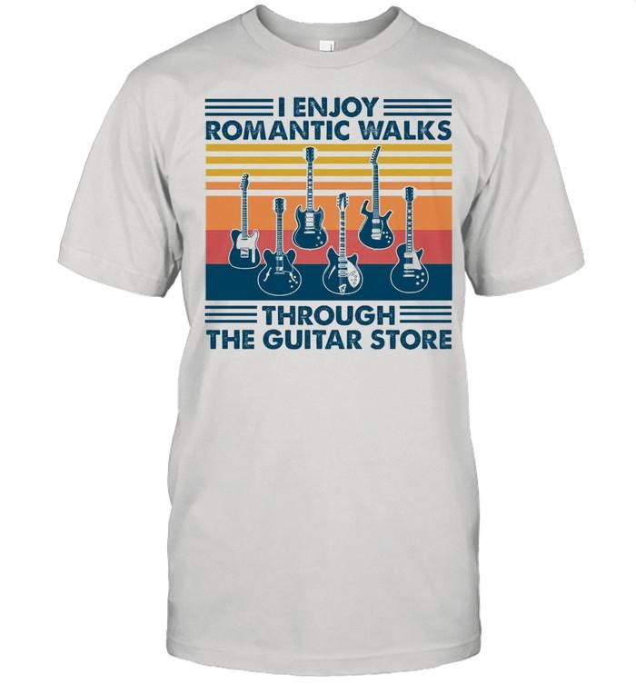 I Enjoy Romantic Walks Through The Guitar Store shirt Classic Men's T-shirt