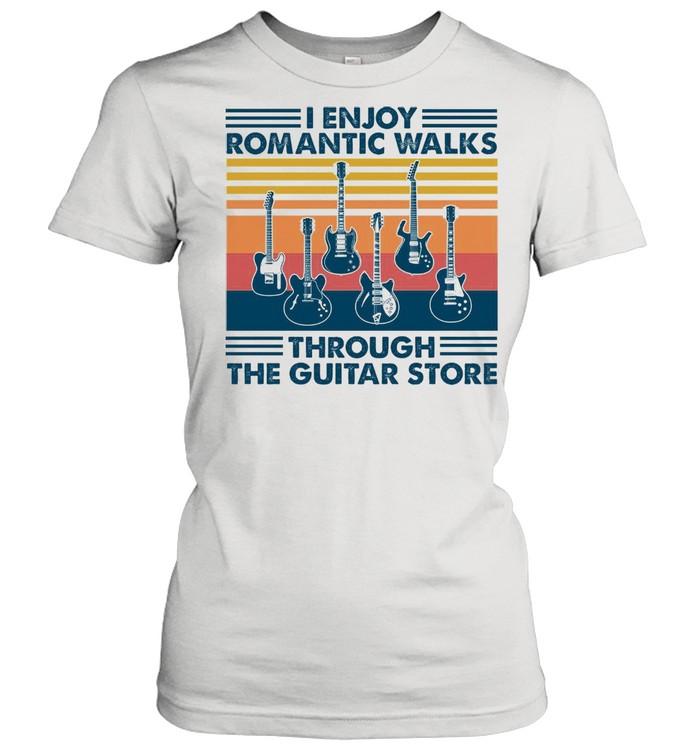 I Enjoy Romantic Walks Through The Guitar Store shirt Classic Women's T-shirt