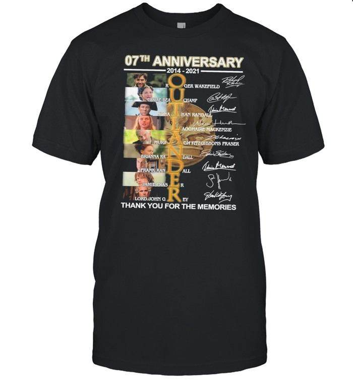 07th Anniversary 2014 2021 Of The Outlander Character Signatures Thank You For The Memories shirt Classic Men's T-shirt