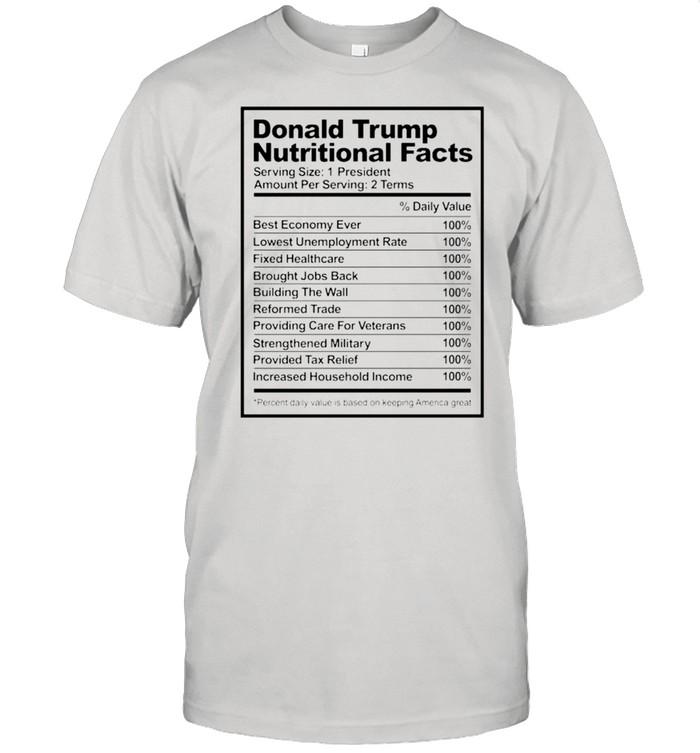 Donald Trump nutritional facts shirt Classic Men's T-shirt