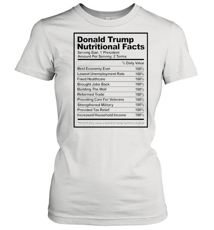 Donald Trump nutritional facts shirt Classic Women's T-shirt