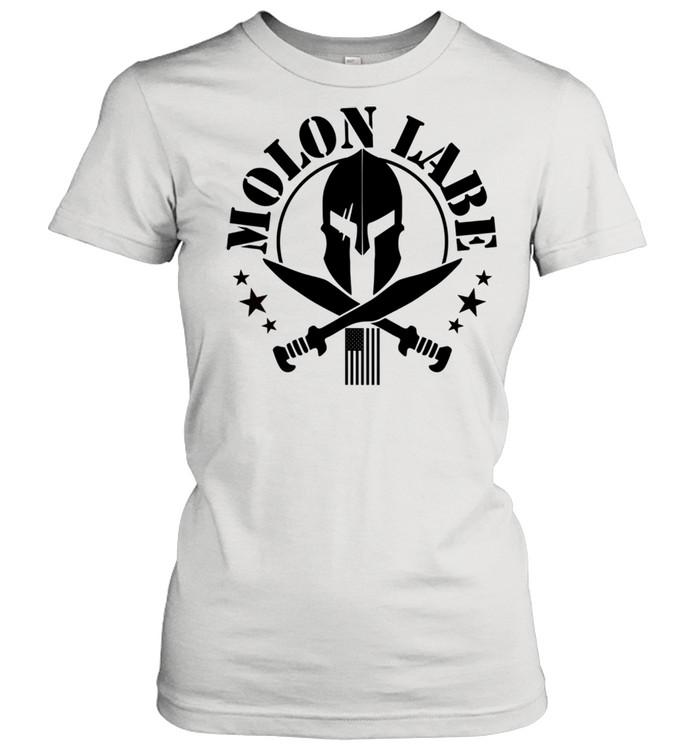 Epic 2A Spartan Molon Labe Patriotic American Flag shirt Classic Women's T-shirt