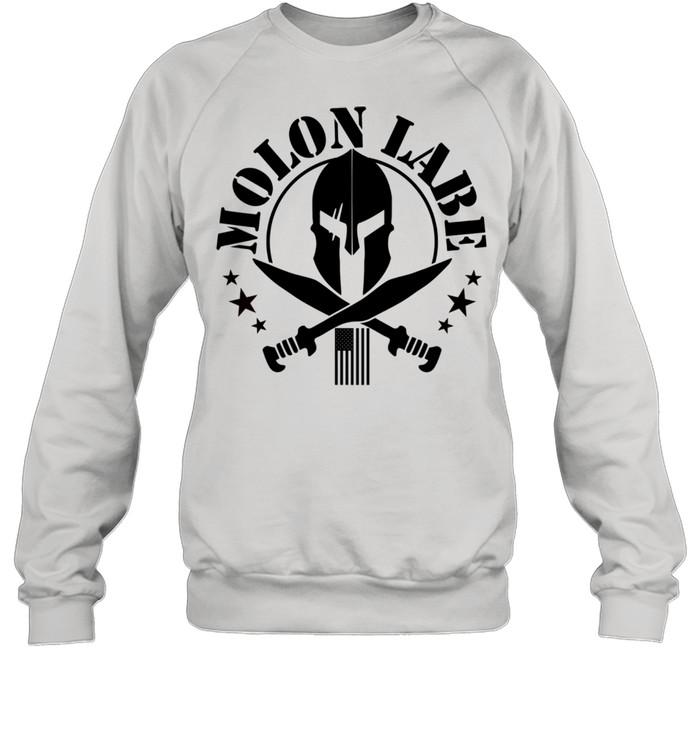 Epic 2A Spartan Molon Labe Patriotic American Flag shirt Unisex Sweatshirt