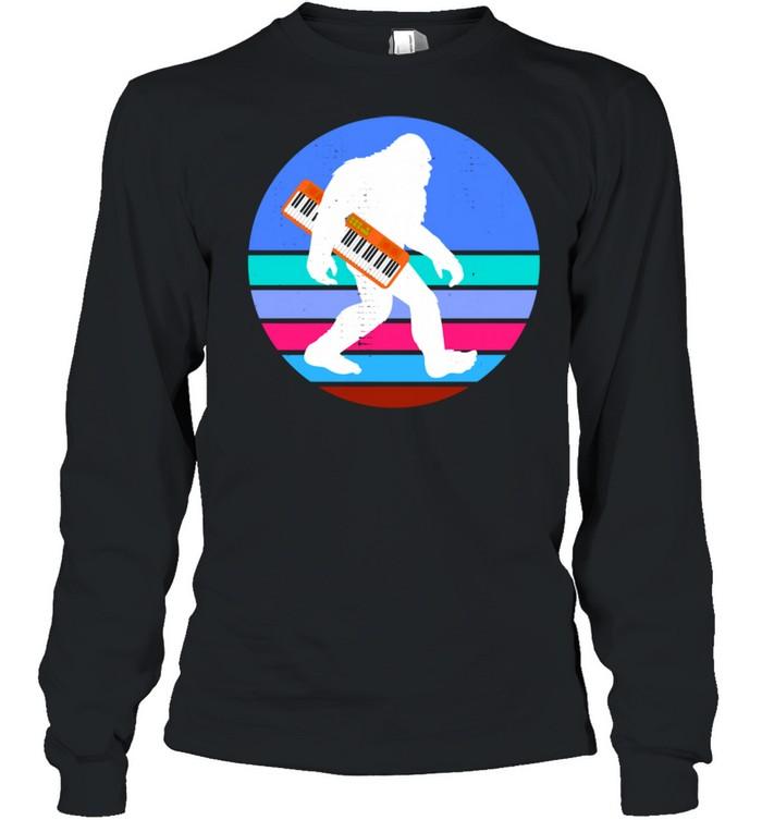 Bigfoot Synthesizer Synth Analog Keyboard Techno Electronic Long Sleeved T-shirt