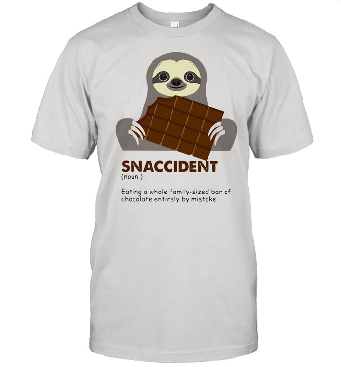Snaccident Eating A Whole Family Sized Bar Of Chocolate Entirely By Mistake Sloth  Classic Men's T-shirt
