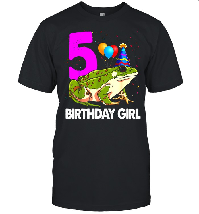 Birthday Girl 5 Frog Toodlers Frog Love shirt Classic Men's T-shirt