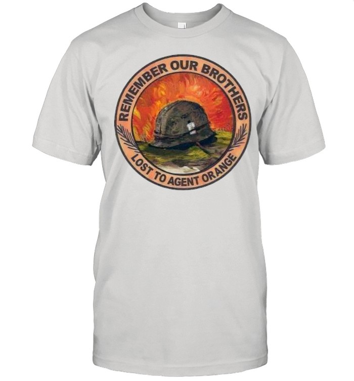 Remember our brothers lost to agent orange shirt Classic Men's T-shirt