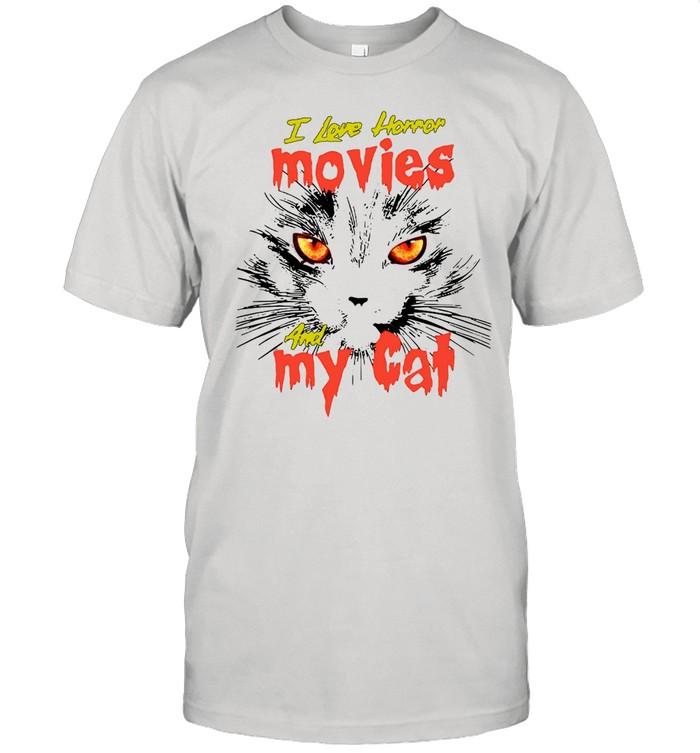 I Love Horror Movies And My Cat T-shirt Classic Men's T-shirt