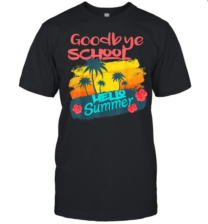 Last Day Of School Goodbye School Hello Summer Teacher shirt Classic Men's T-shirt