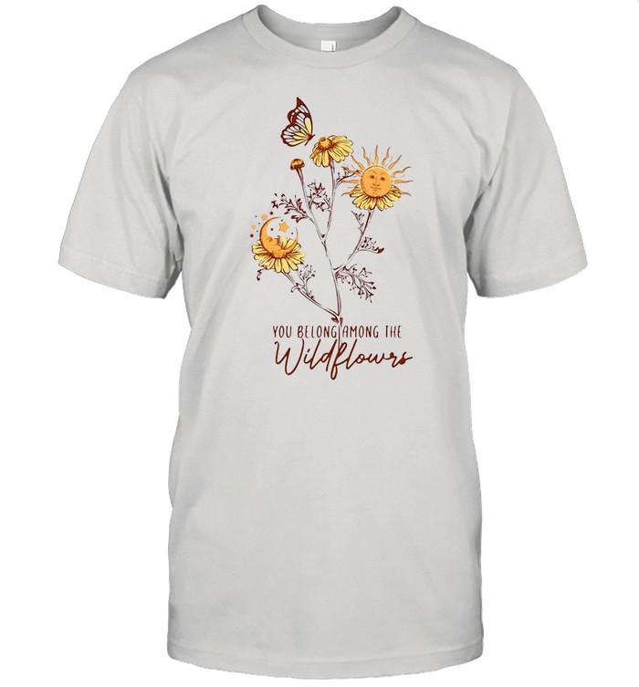 Hippie You Belong Among The Wildflowers T-shirt Classic Men's T-shirt
