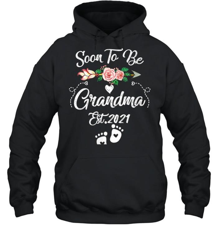 Womens Soon to be Grandma 2021 Mother's Day For Grandma Pregnancy shirt Unisex Hoodie
