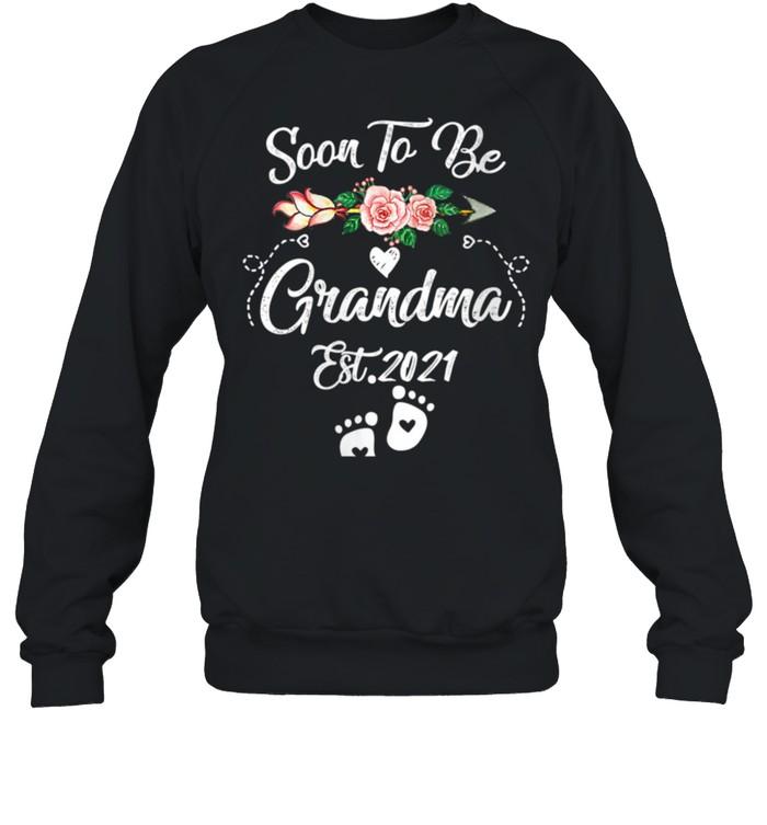 Womens Soon to be Grandma 2021 Mother's Day For Grandma Pregnancy shirt Unisex Sweatshirt