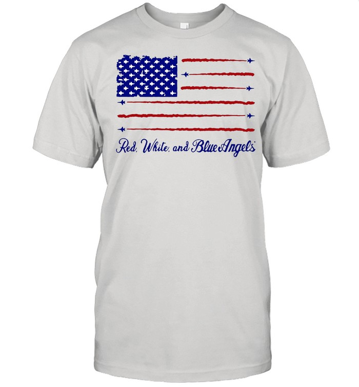 America flag Red white and blue Angels shirt Classic Men's T-shirt
