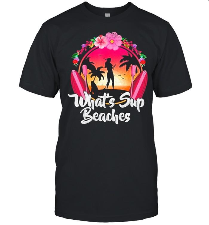 Paddleboard What's Sup Beaches Retro Sunset shirt Classic Men's T-shirt