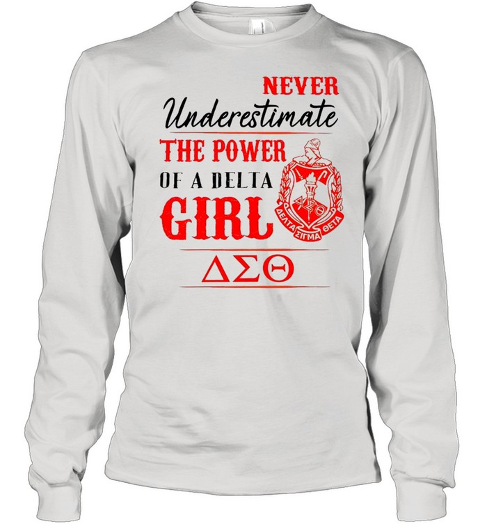Delta Sigma Theta Never Underestimate The Power Of A Delta Girl shirt Long Sleeved T-shirt