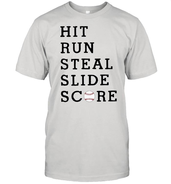 Hit run steal slide score shirt Classic Men's T-shirt