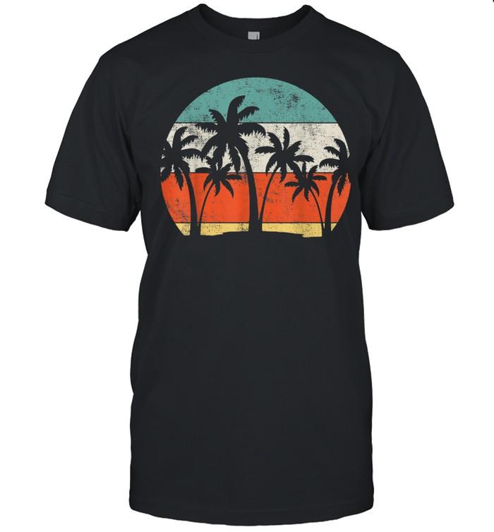 Coconut Tree Palm Vacation Tropical Summer shirt Classic Men's T-shirt