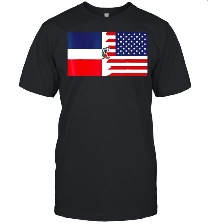 Dominican American Half Dominican Republic Flag T-shirt Classic Men's T-shirt