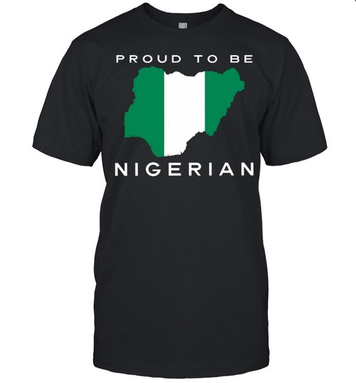 Proud To Be Nigerian Flag shirt Classic Men's T-shirt
