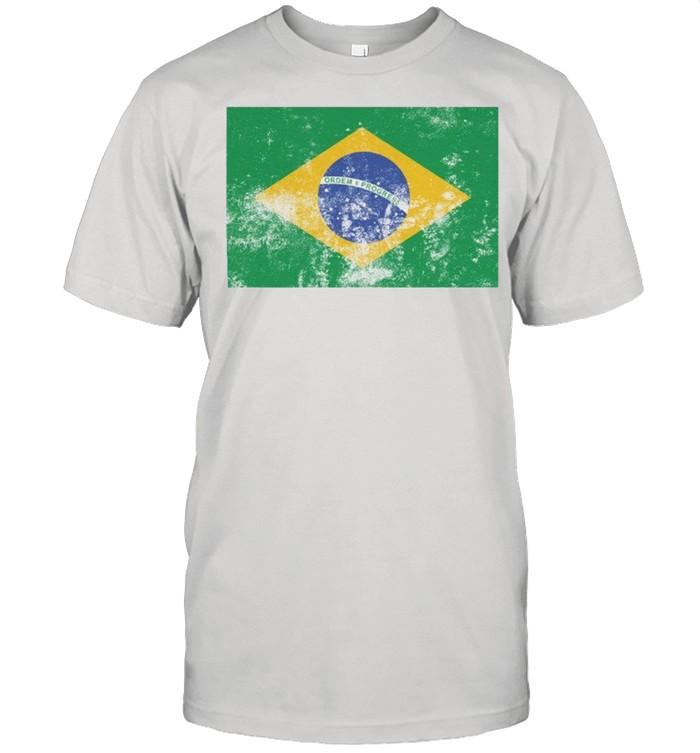 Retro Vintage Style Brazil Brazilian Flag Pride shirt Classic Men's T-shirt