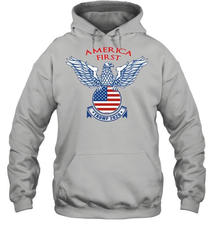 America First Trump 2020 T-shirt Unisex Hoodie