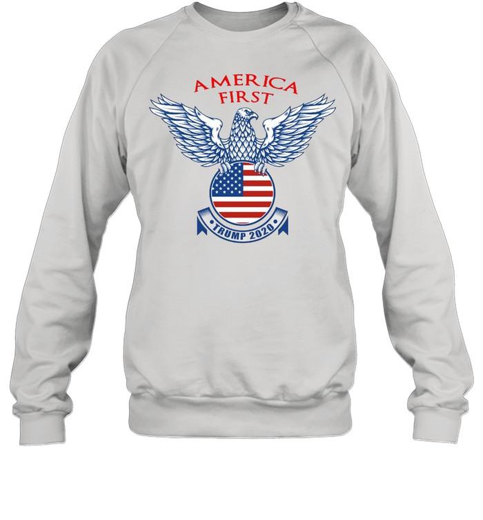 America First Trump 2020 T-shirt Unisex Sweatshirt