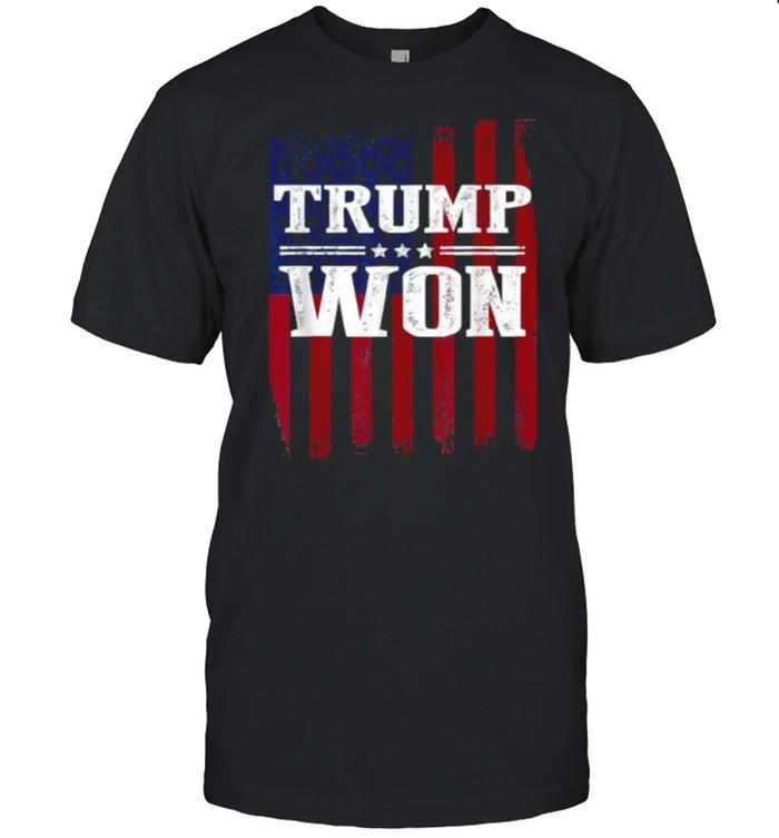Trump Won 4th of July American Flag T- Classic Men's T-shirt