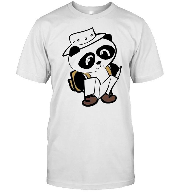 Panda chibi camping shirt Classic Men's T-shirt